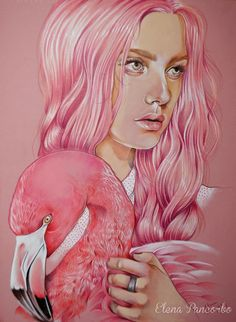 Flamingo PInk by Elena Pancorbo, via Behance