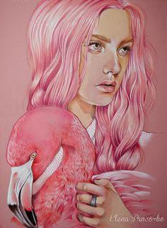 ILLUSTRATION Flamingo PInk by Elena Pancorbo, via Behance