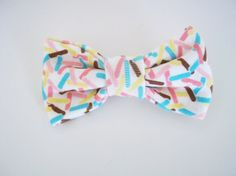 I Love Sprinkles Fabric Hair Bow  small by ApplesAndBows on Etsy, $3.00