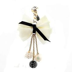 Amazon.com: Brandbuy Earphone Jack Plated Gold Beige Bow Colored Small Beads / Cell Charms / Dust Plug / Ear Jack For Iphone 4 4S / iPad / iPod Touch / Other 3.5mm Ear Jack: Cell Phones & Accessories