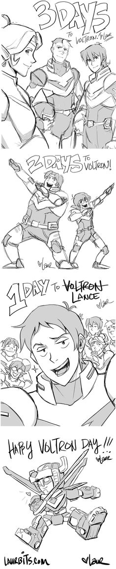 Countdown to Voltron sketches by laurbits on DeviantArt