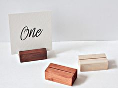 10 Wood stands for acrylic / Rustic wooden table number holders / Table menu stands / Reception / Wedding / Event Sign holders Table Number Stands, Wedding Table Number Holders, Table Wedding, Rustic Wedding, Wedding Ideas, Rustic Wooden Table, Wooden Diy, Diy Wood, Wood Table Numbers