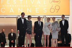 "Kristen Stewart Photos Photos - (FromL) German actor Lars Eidinger, French actress Sigrid Bouaziz, French director Olivier Assayas, US actress Kristen Stewart, Austrian actress Nora von Waldstatten and Norwegian actor Anders Danielsen Lie pose as they arrive on May 17, 2016 for the screening of the film ""Personal Shopper"" at the 69th Cannes Film Festival in Cannes, southern France.  / AFP / ALBERTO PIZZOLI - 'Personal Shopper' - Red Carpet Arrivals - The 69th Annual Cannes Film Festival"