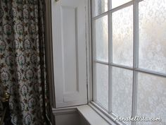 How to remove fabric that has been applied to window with corn starch.  Hot water -- really hot water.