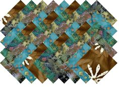 "BATIK VARIETY #22 COLLECTION 40 Precut 5"" QUILTING FABRIC SQUARES #MDG"
