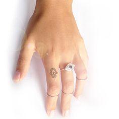 Hamsa tattoo. I keep finding more tattoos I want to get Small Tattoos Hamsa, Small Hamsa Tattoo, Hamsa Hand, Finger Tattoos, Evil Eye Tattoo, Tattoo Evil Eye