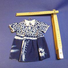 alte Puppenkleidung, Vintage, Kleid
