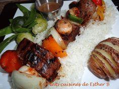 Les plats cuisinés de Esther B: Marinade tomatée pour brochettes de boeuf