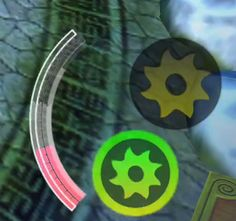7. Get an attack bonus with the boost bar. Tap on an attack button. The boost bar begins to fill.