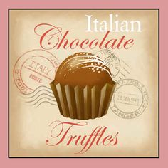 Italian Chocolate Truffles Poster Print by Tom Wood x Chocolate Chip Cake, I Love Chocolate, Chocolate Heaven, How To Make Chocolate, Chocolate Truffles, Chocolate Food, Fondant Cupcake Toppers, Cupcake Art, Rose Cupcake