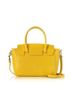 Lancaster Paris Camelia Leather Satchel Bag w/Detachable Shoulder Strap