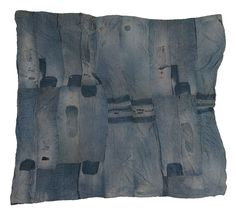 """With Love & Sweat ~ """"Bars"""" quilt, made by Lutisha Pettaway (Pettway) c.1950 of worn denim work clothes. Museum of Fine Arts, Houston. The women of Gee's Bend (Boykin), Alabama have a rich & unique history of hand-quilting. Since that day in 1998 when art historian Bill Arnett tracked down the Gee's Bend woman whose quilt had captivated him from a photograph, these women's lives haven't been the same. Great article. Ms. Pettaway's story: http://soulsgrowndeep.org/artist/lutisha-pettway"""