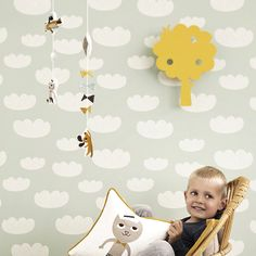 Ferm Living Cloud Wallpaper - Mint