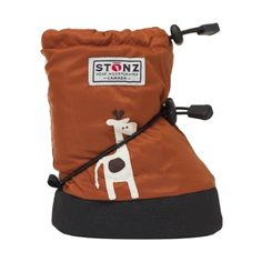 Unfortunately Miles Storm didn't get to wear his awesome STONZ winter giraffe boots as we had no snow this year. Great product though.