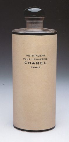 Vintage Chanel perfume bottle and packaging.