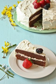 """""""Chocolate Marzipan Cake, Adapted from Anna Olson"""" Almond Recipes, Baking Recipes, Cake Recipes, Dessert Recipes, Marzipan Recipe, Marzipan Cake, Anna Olson, Köstliche Desserts, Delicious Desserts"""