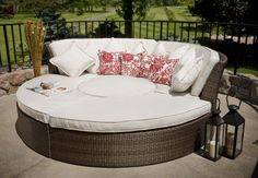 The Halo Collection All Weather Wicker Patio Furniture Day Bed