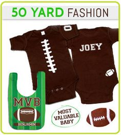Football Baby Gifts and Clothing
