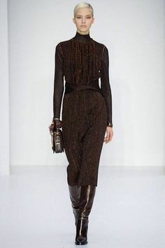 """It"" girl Sasha Luss - Salvatore Ferragamo Fall 2014 Ready-to-Wear Collection Slideshow on Style.com"