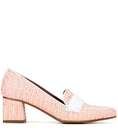 Martgot pink tweed pumps