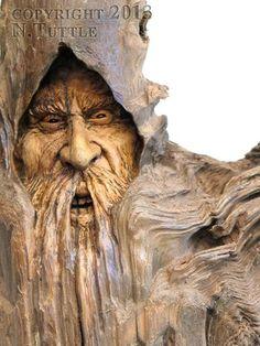 NANCY TUTTLE - original wood carving