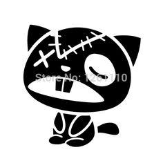 Pas cher Zombie Cat Wall Art vinyle Decal JDM autocollant portable Funny Car portable Bin réfrigérateur Wall voiture Van SUV Window Bumper, Acheter  Autocollants de qualité directement des fournisseurs de Chine:    Description:      Décalcomanies bâton à presque tous les surfaces planes!  Juste peau et bâton!  Longue durée 5 + an