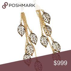 🎁NEW!!! Gold Leaf Earrings Comes in original packaging, great gift idea! Jewelry Earrings