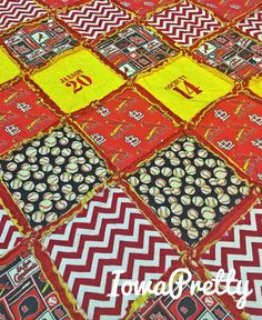 Cardinals Baseball HEAVY WEIGHT Rag Quilt by IowaPretty on Etsy