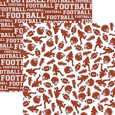 Reminisce ARE YOU READY FOR SOME FOOTBALL? 12x12 Dbl-Sided Scrapbooking 2 Papers