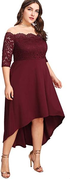 Shop a great selection of Floerns Women's Plus Size Vintage Lace Dip High Low Cocktail Party Dress. Find new offer and Similar products for Floerns Women's Plus Size Vintage Lace Dip High Low Cocktail Party Dress. Plus Size Party Dresses, Party Dresses Online, Party Dresses For Women, Dress Online, Comfy Dresses, Elegant Dresses, Casual Dresses, Formal Dresses, Plus Size Vintage