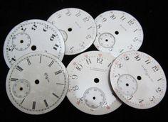 Porcelain Watch Dials Steampunk Faces Parts by amystevensoriginals, $24.00