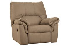 """Available Colors :   Mocha   Cafe   Sage  The contemporary design of a """"Benjamin"""" rocker recliner features the plush design of the fold-over pillow top arms along with the supportive seat cushion and divided back for great lumbar support to create an exceptional addition that is sure to enhance the beauty and comfort of any living room."""