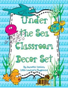 $ This adorable classroom décor set will brighten up any classroom, while adding a splash of sea life fun!  It has everything you need for an ocean themed classroom, featuring colorful sea creature accents!