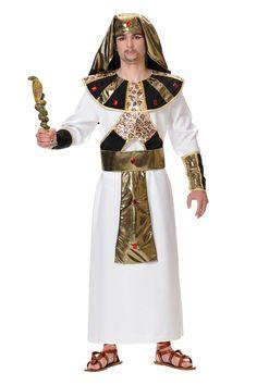 DisfracesMimo, disfraz de fara�n egipcio hombre talla xl. Caracter�zate como uno de los m�s m�ticos gobernadores de esta antigua civilizaci�n y s� el rey del carnaval.  Este disfraz es ideal para tus fiestas tem�ticas de disfraces romanos y egipcios infantil. fabricacion nacional