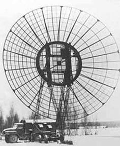 R-420 Atlet-D tropospheric scatter radio. Introduced in 1975 to replace the earlier Atlet system, the unit used two 16 meter diameter antenna. Range per hop was increased to 350 to 400 km (217 to 248 miles)