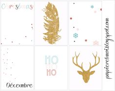 Free Christmas Journal Cards from Papier et Moi