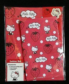 Sanrio Hello Kitty Strawberry Stationery Letter set Kawaii Cute