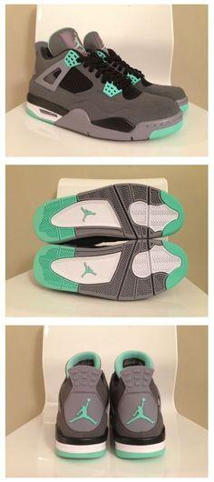 huge discount 0c1d6 0fb46 2013 Air Jordan 4 Retro Glow Green Sneaker Air Jordans, Cheap Jordans,  Jordans Sneakers