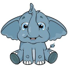 cute baby elephant cute cartoon clip art images all images are on a rh pinterest co uk elephant clipart images elephant clipart images