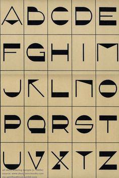 upintheatticus: art deco lettering sample (c. 1920s) source: www.designers-books.com