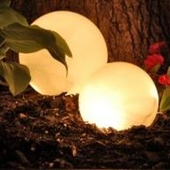 DIY Outdoor Light- love these glowing balls,  I want them scattered all around my back garden and around my hot tub for those late night dips!