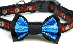 Medium Size Black and Metallic Blue Dog Bow Tie. Looking Dapper, Dog Bows, Blue Dog, Metallic Blue, Bow Ties, Stone Pendants, Jewelry Supplies, Beautiful Necklaces, Shopping Bag