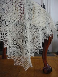 Shetland Knit Lace Heirloom Baby Blanket pattern available in kit sold at Jamieson & Smith Wool Brokers, Shetland