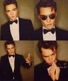 Ed Westwick. HIS JAWLINE IS UNREAL HOLY MOTHER OF PEARL
