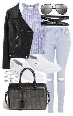 """Untitled #18630"" by florencia95 ❤ liked on Polyvore featuring Topshop, Miss Selfridge, Vans, Acne Studios, Yves Saint Laurent and Banana Republic"