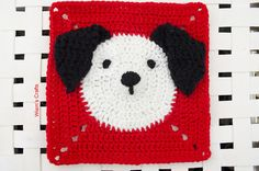 A cute puppy square, perfect for making a baby blanket.