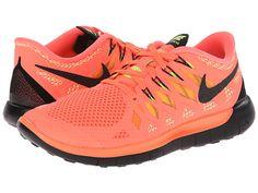 Nike Nike Free 5.0 '14 Bright Mango/Volt/Peach Cream/Black - 6pm.com