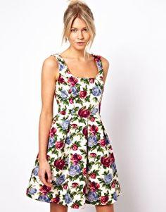 Oasis Rose Print Dress