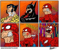 Como os heróis fazem a barba