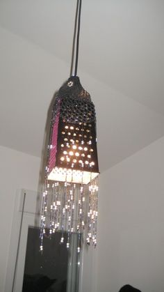 grater lamp ... this is a cool recycled art project